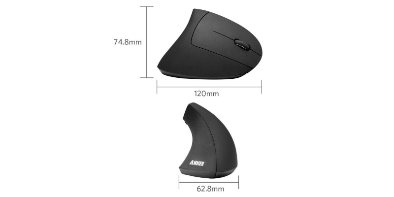 Anker 2.4G Wireless Vertical Ergonomic Optical Mouse Dimension