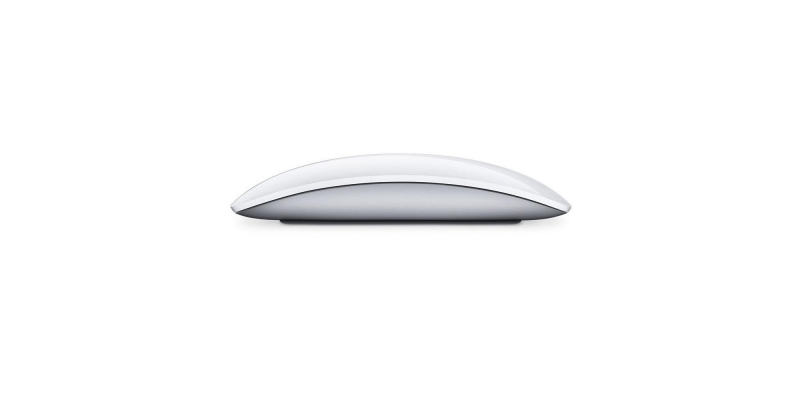 Apple Wireless Magic Mouse 2 Silver Clean SIde View