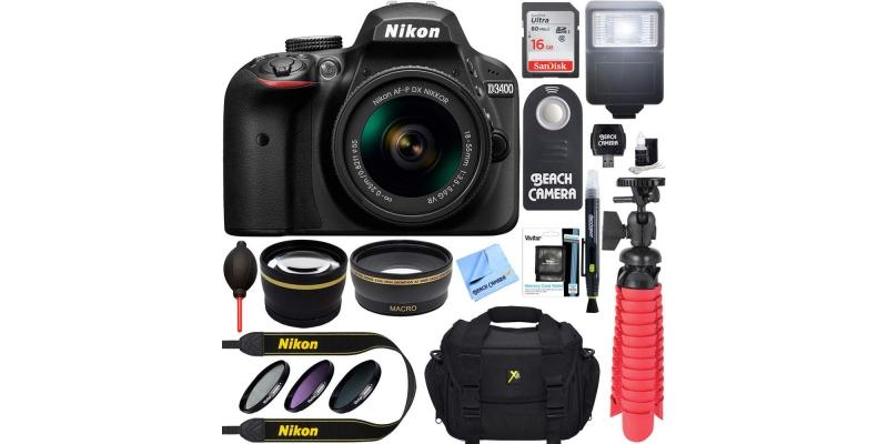 Nikon D3400 24.2 MP DSLR Camera Accessories
