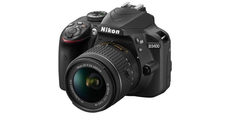 Nikon D3400 24.2 MP DSLR Camera Side View