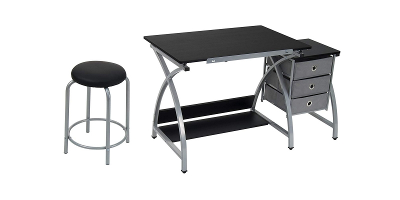 STUDIO DESIGNS Comet Center with Stool Silver : Black 13325 Other View