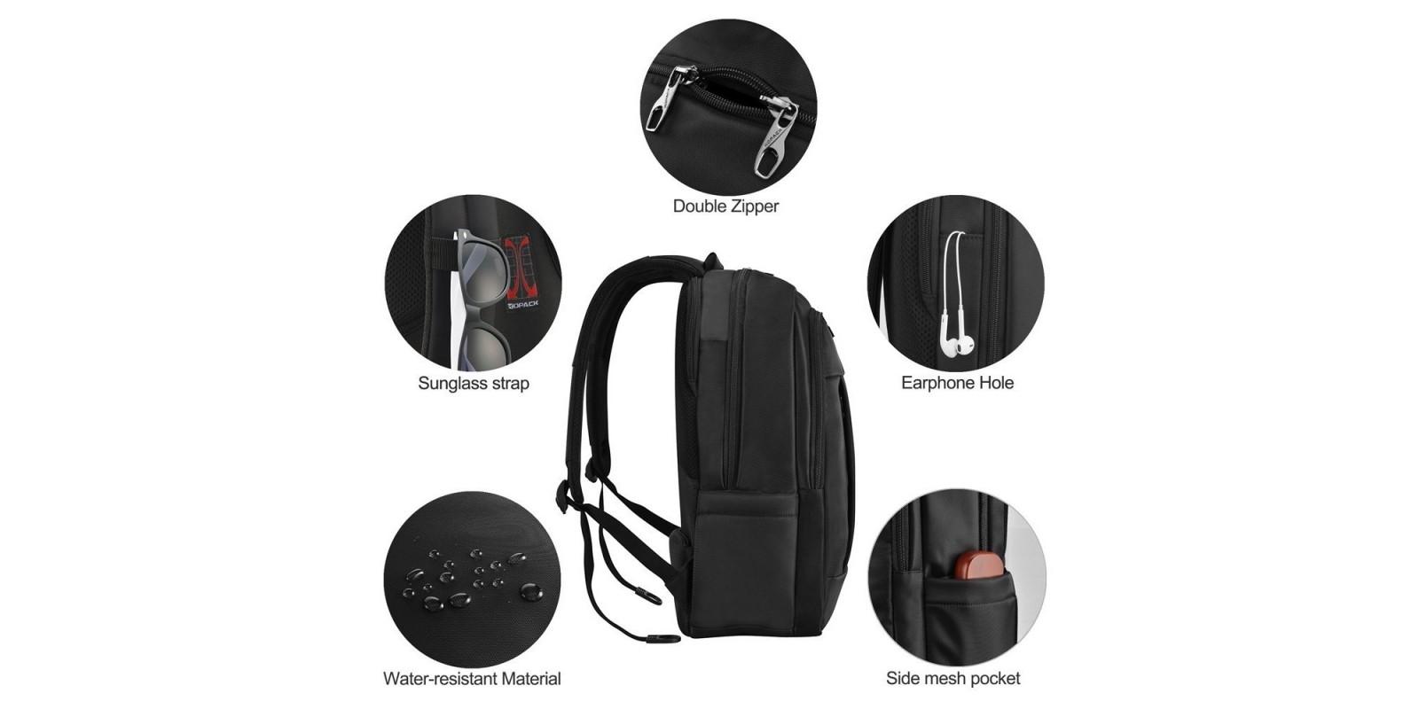 kopack Deluxe Black Waterproof Laptop Backpack – More details