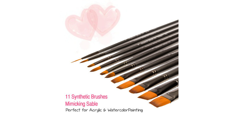 D'Artisan Maestro Series XV Acrylic Watercolor and Oil Paintbrush set 5