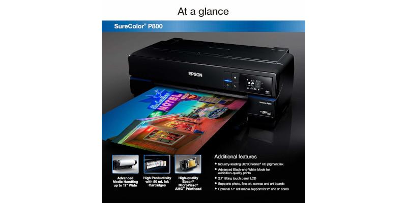 Epson SureColor P800 Inkjet Printer2