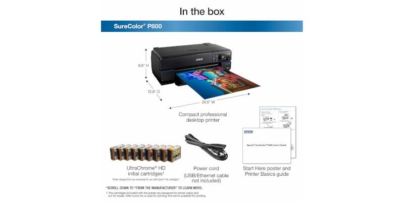 Epson SureColor P800 Inkjet Printer5