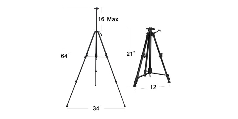 "FineColour's 63"" Art Tripod Painting Easel Stand2"